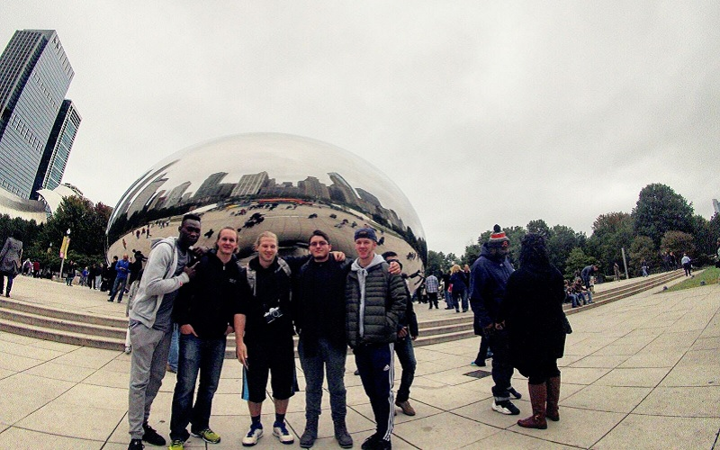 Emmanuel at Cloud Gate in Chicago