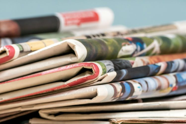 Image: newspaper stack