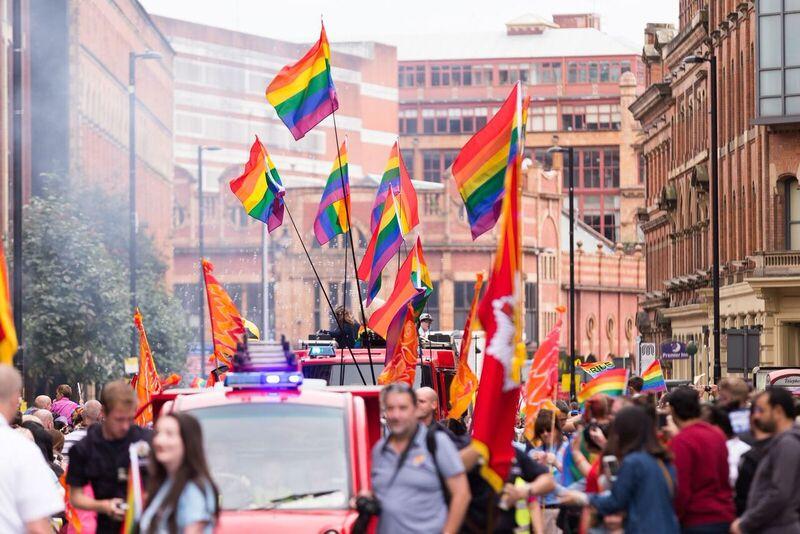 Manchester pride parade 2016.