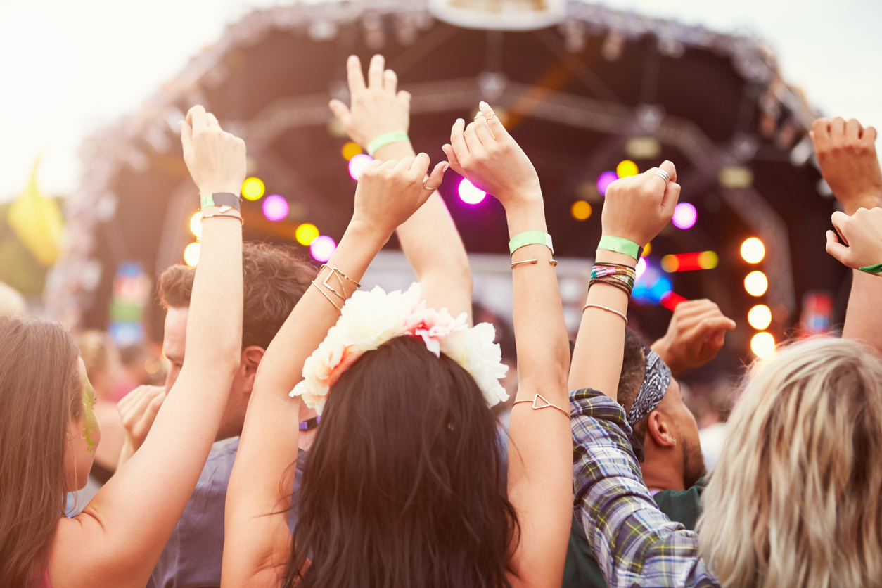 Glastonbury festival stock image.