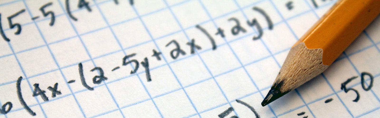 Image: equations and a pencil