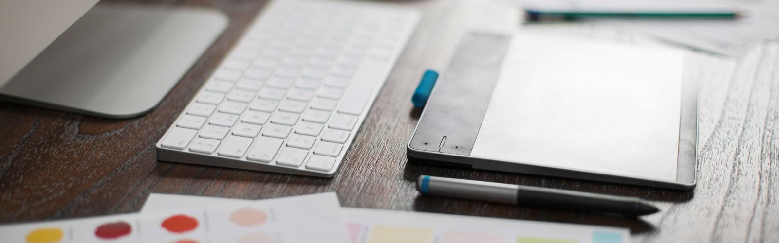 Image: Graphic Designer's desk