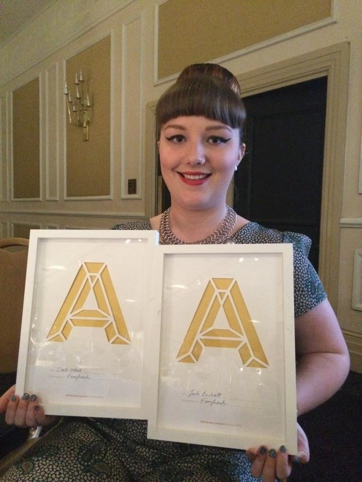 Image: Jade at the awards evening