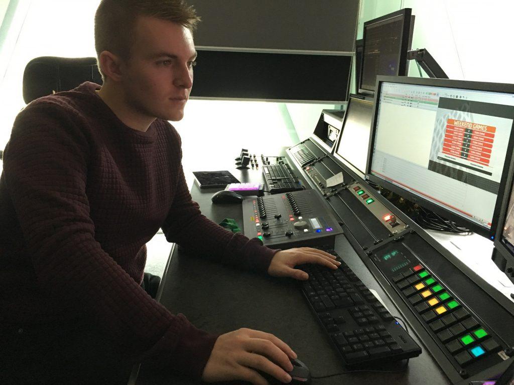 Tom in the studio