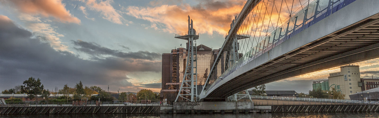 Image: Sunset over Salford Quays