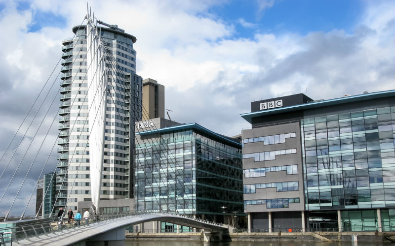 Image: BBC Buildings in Salford Quays