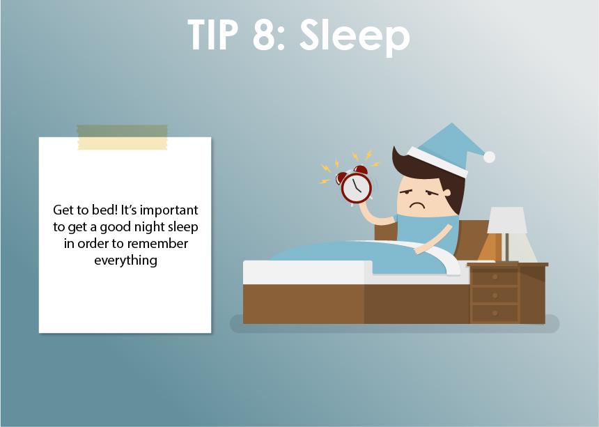 Get a good night sleep!