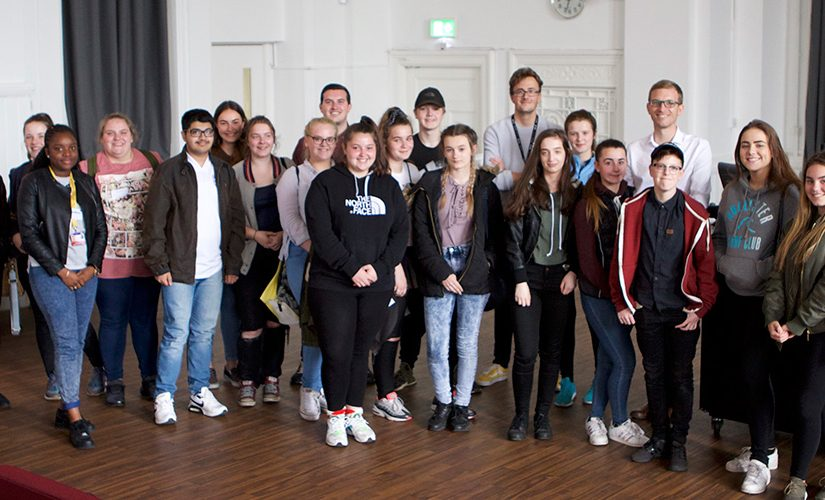 Image: group of all students attending the Salford Summer School