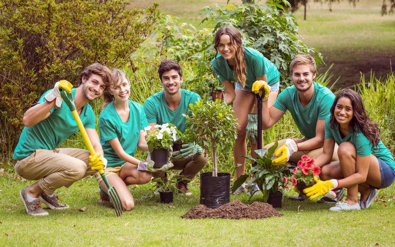 Image: Students volunteering