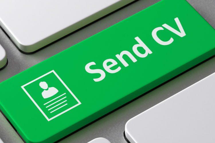 Image: Send CV button
