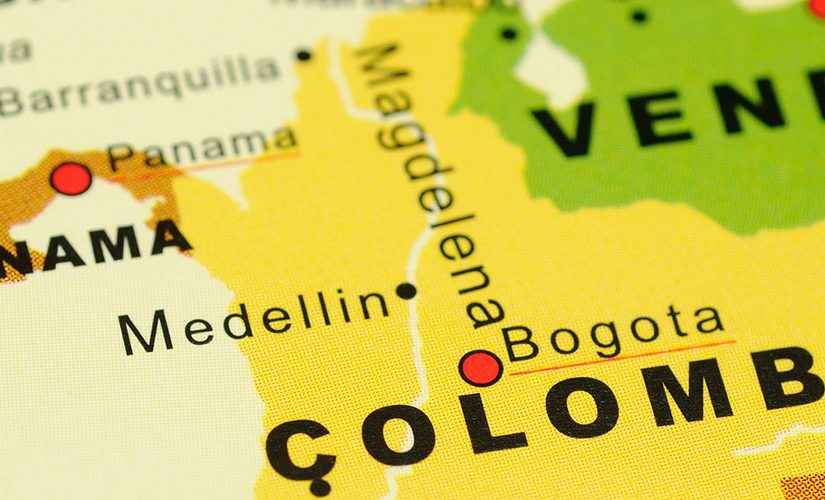 Image: Map showing Colombia