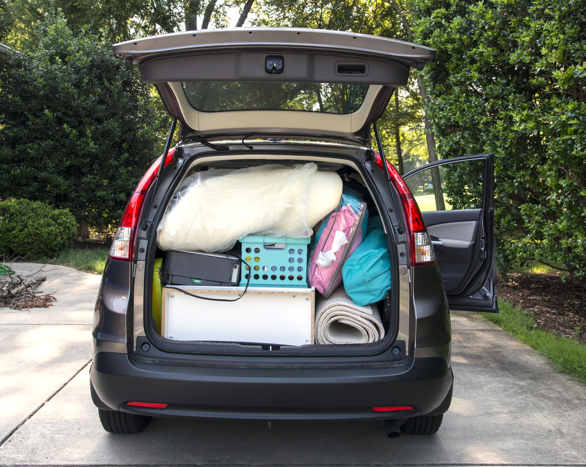 Image: Car fully packed and ready to leave