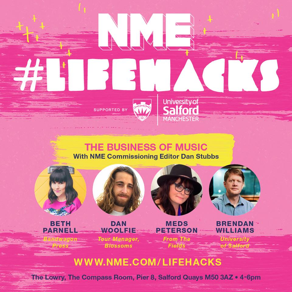 Image: Promotional image for NME Lifehacks featuring panel