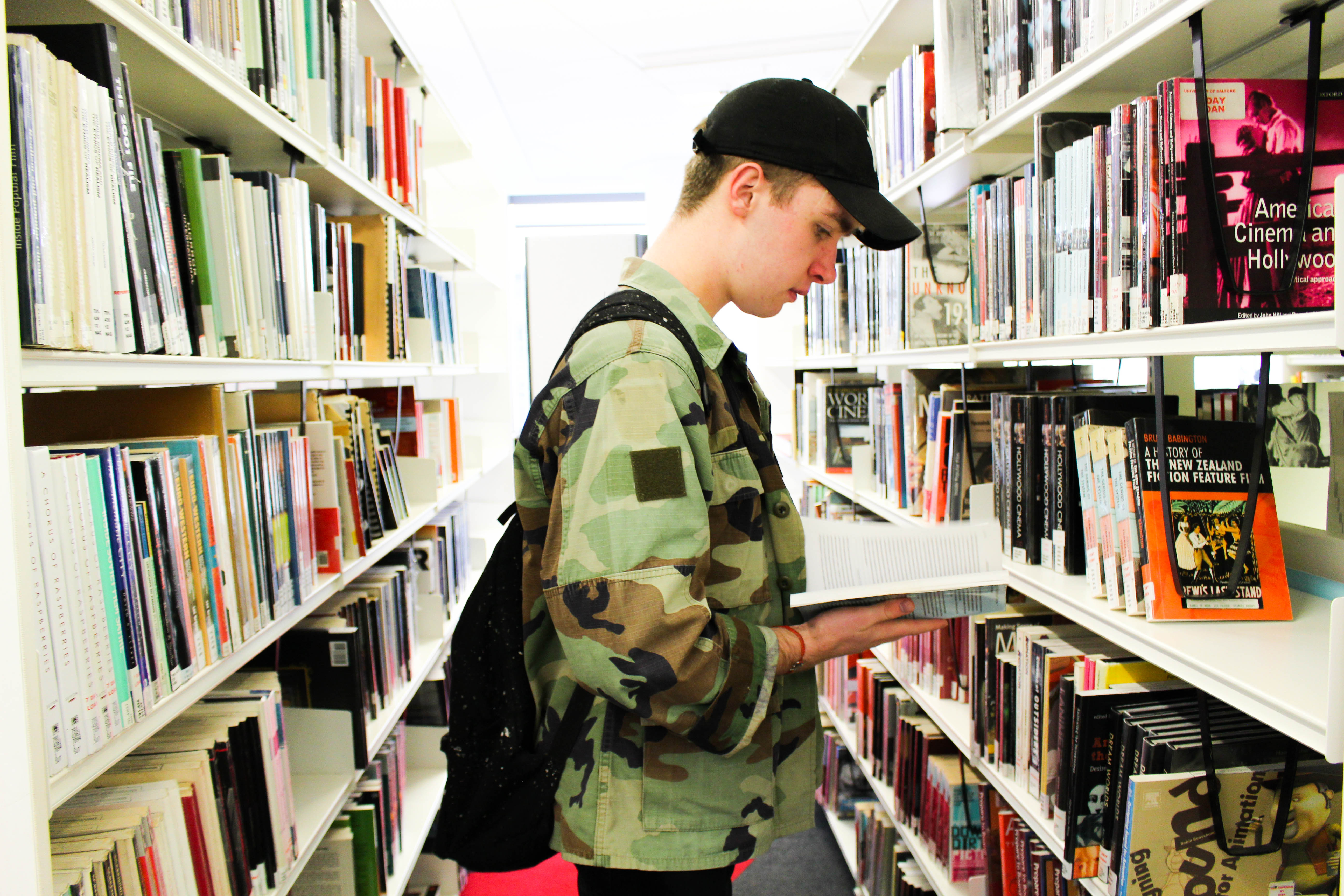 Image: Callum in the Library