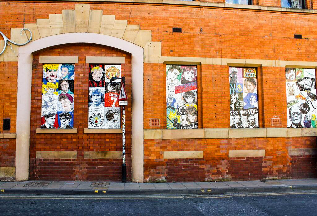 Image: Street art on the side of Afflecks Palace