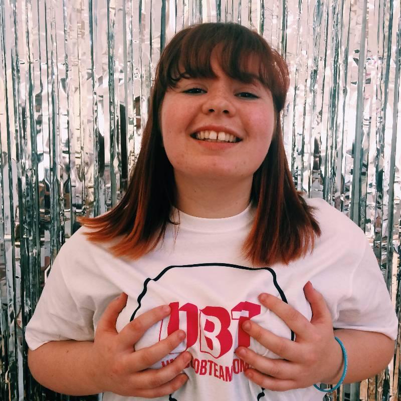 Megan, UniBoob Team Photo