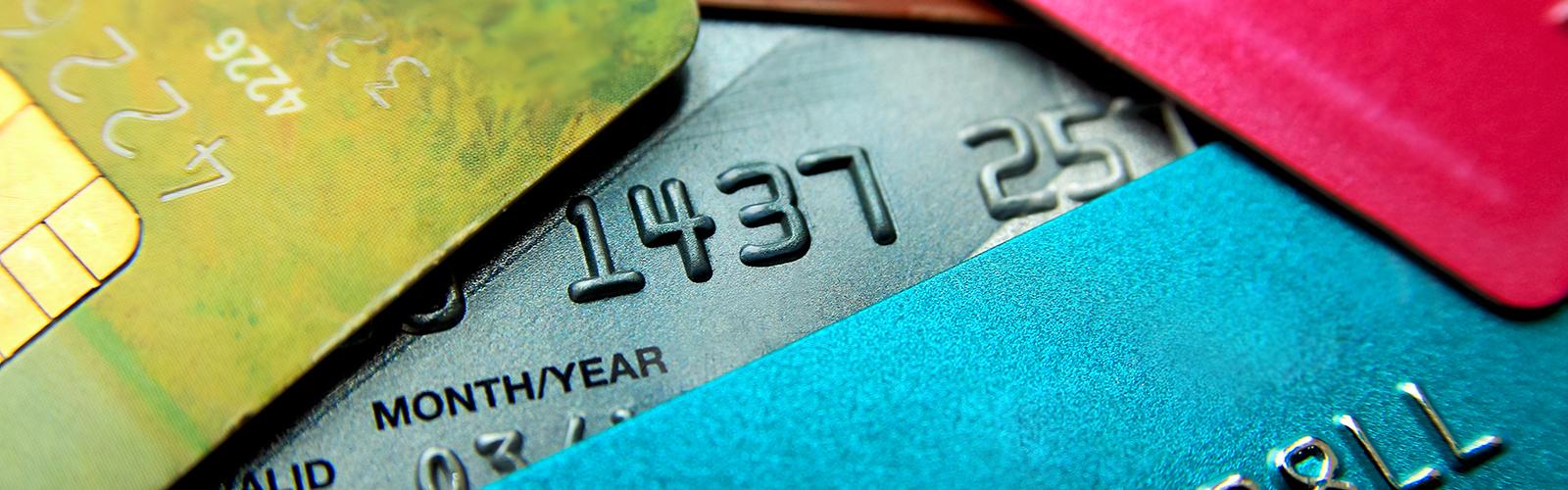 Colourful debit cards