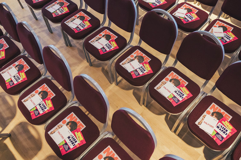 Image: Flyers and NME Magazines on chairs