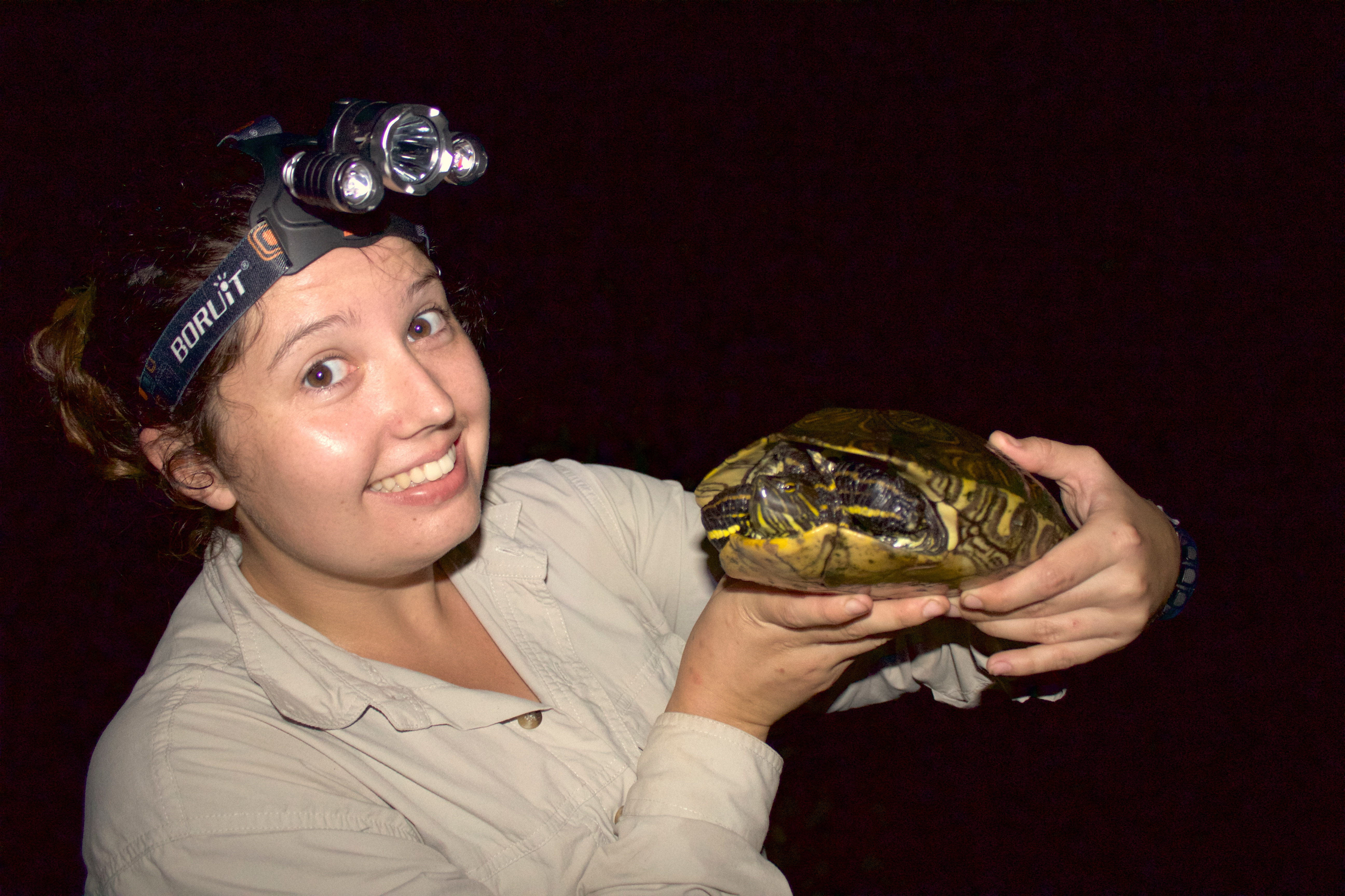 Evie with Turtle
