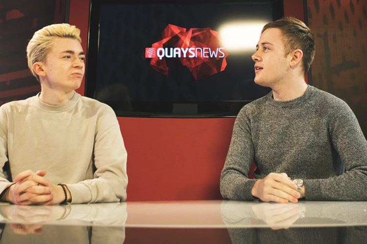 Image: Oliver and Rhys in TV studio