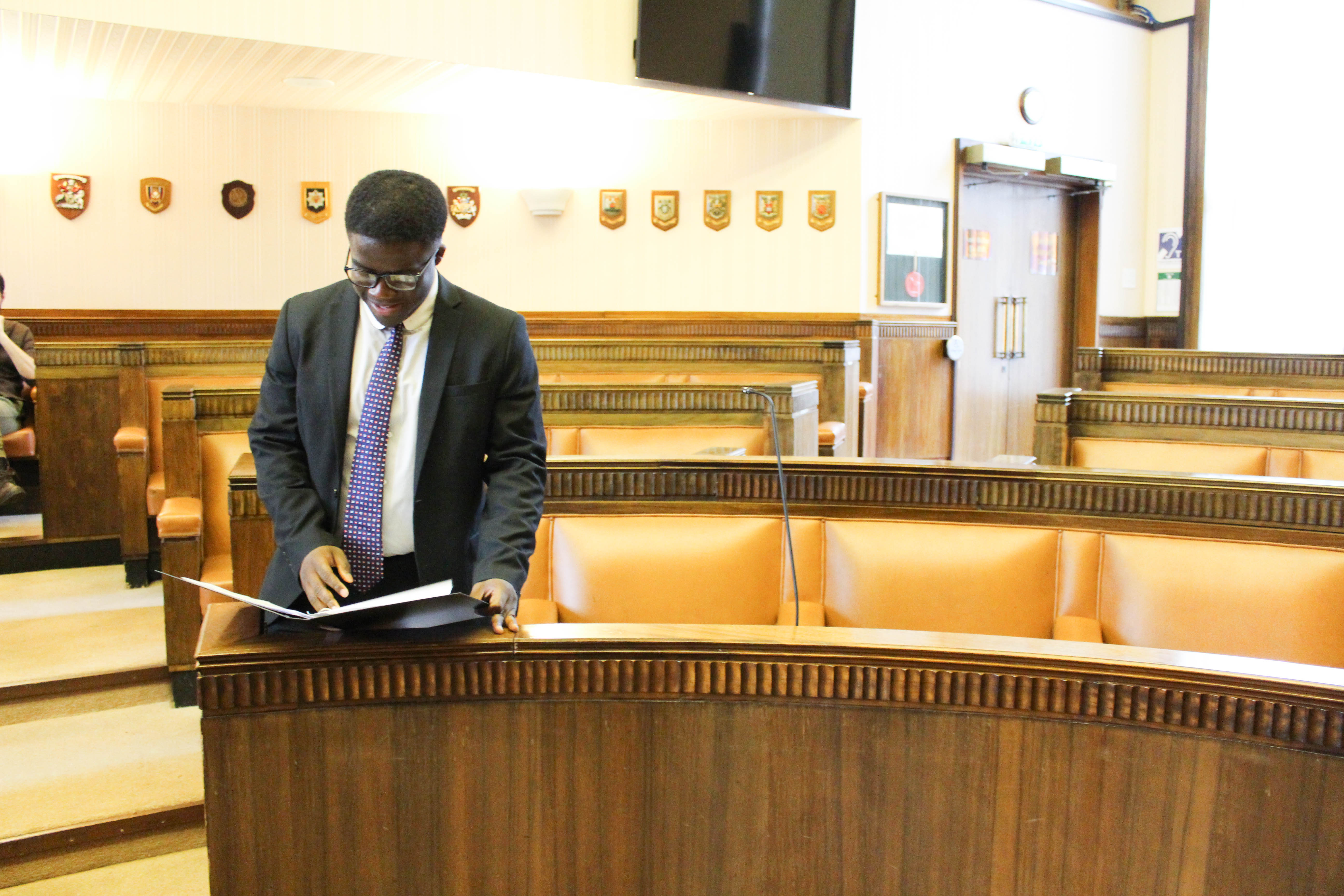 Image: Charles at the mooting