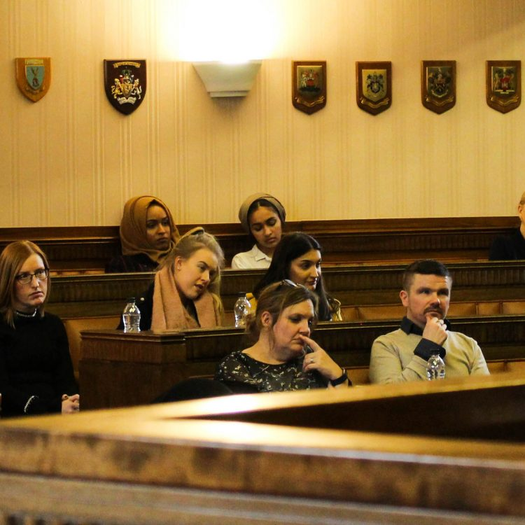 Image: Student Charles at the mooting