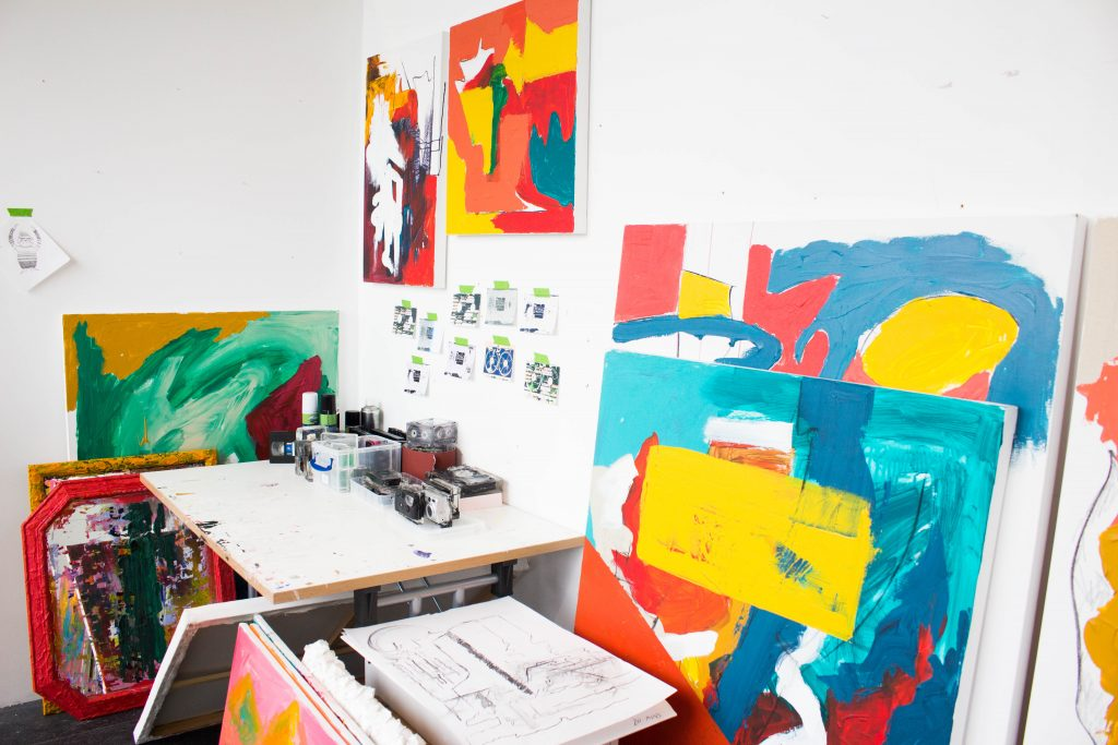 Image: Mollie's artist studio at University
