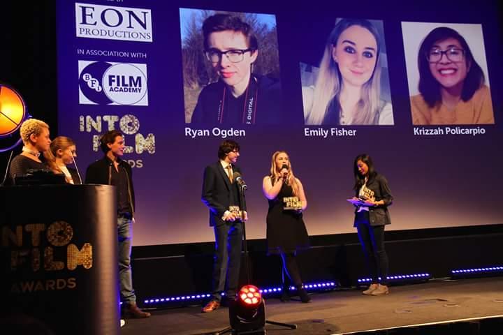 Image: Ryan receiving his award
