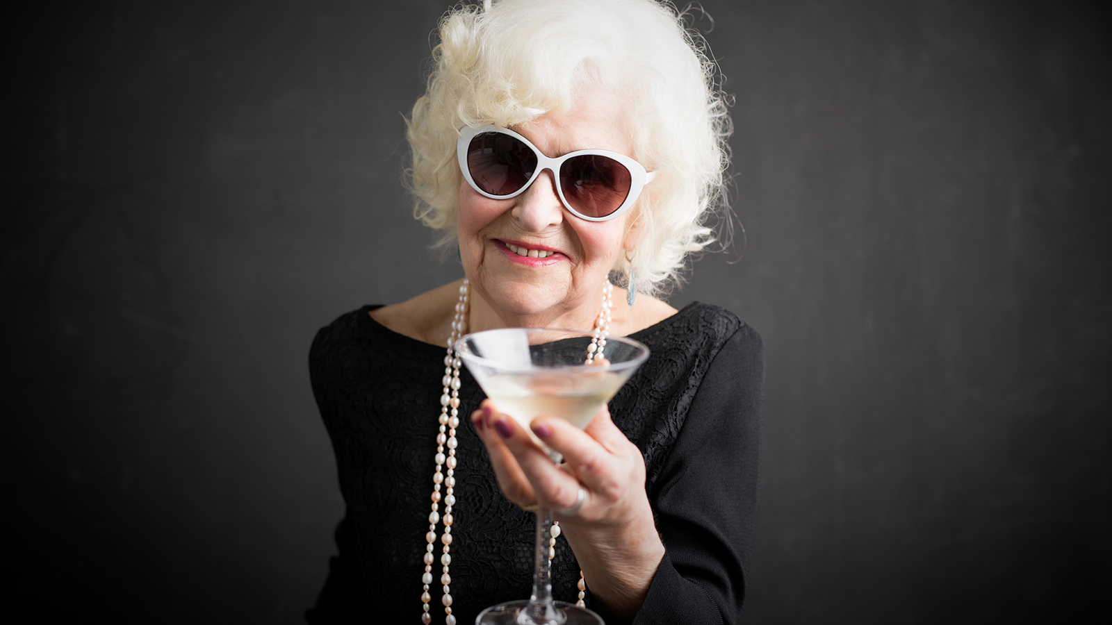Image: Older lady with cocktail