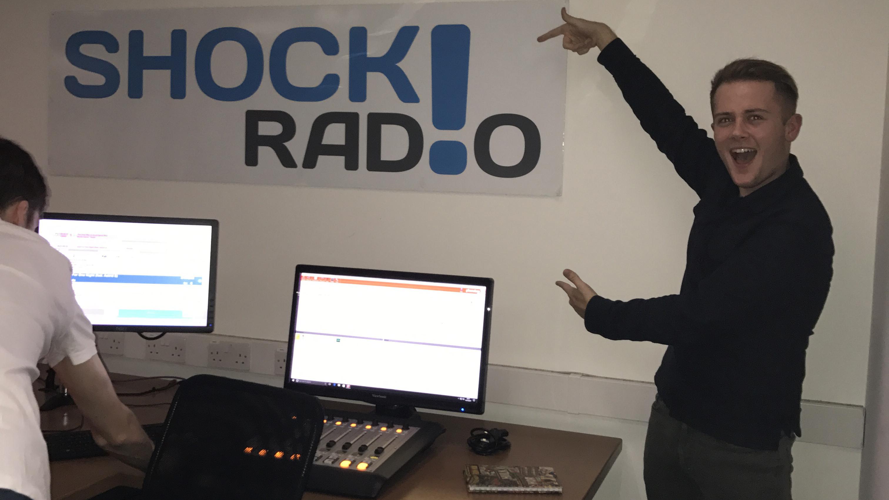 Image: Rhys in the Shock Radio studio.