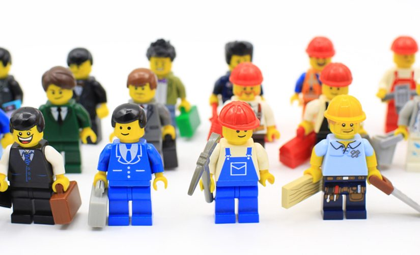 Image: Lego construction workers