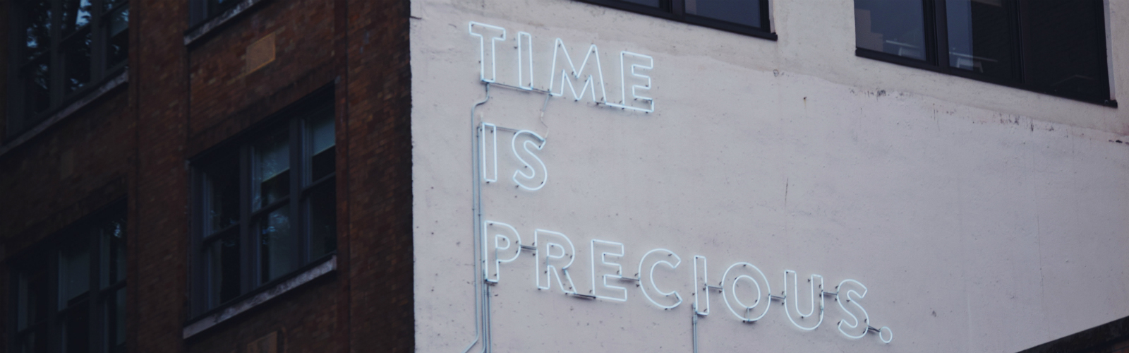 Image: Time is precious sign