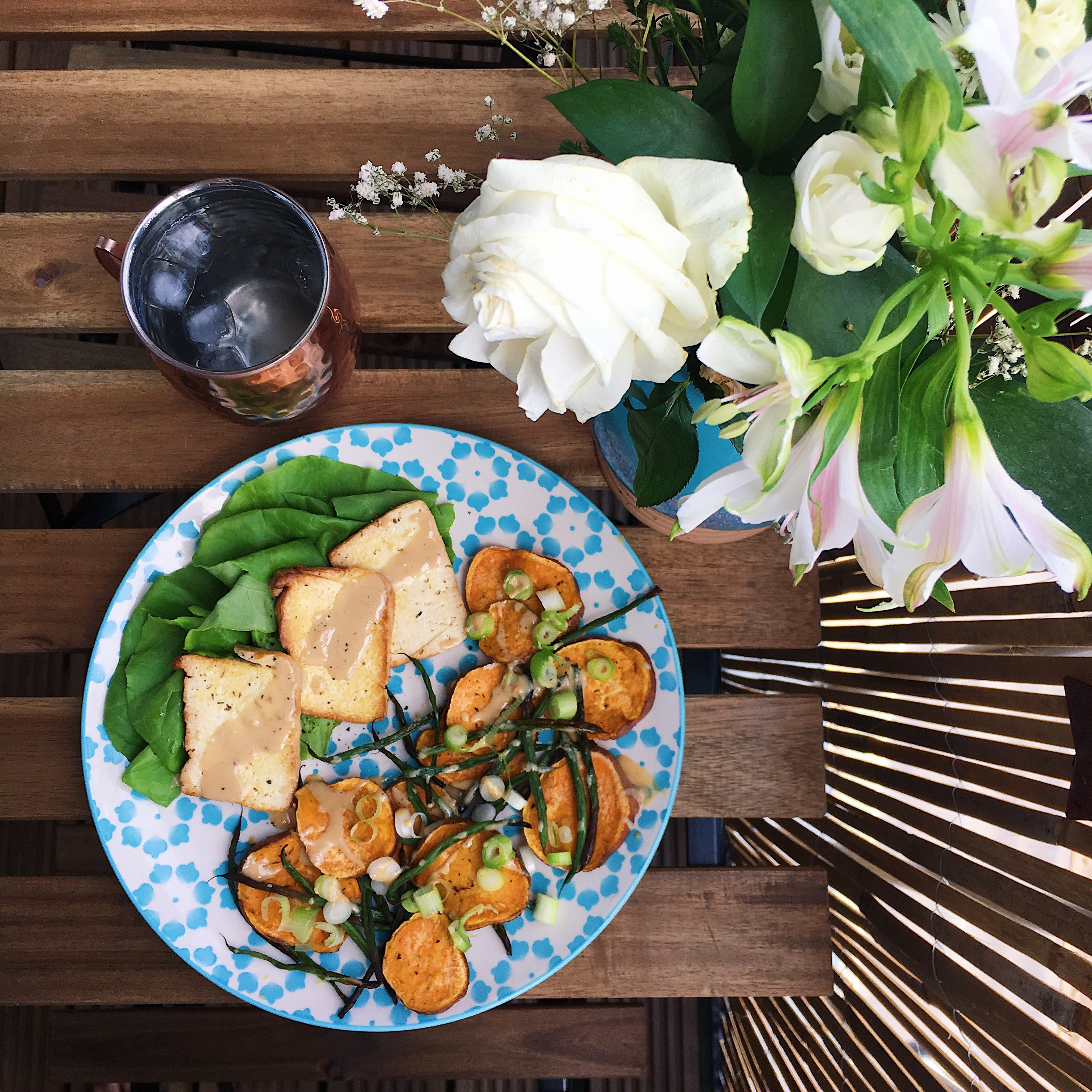 Tahini tofu