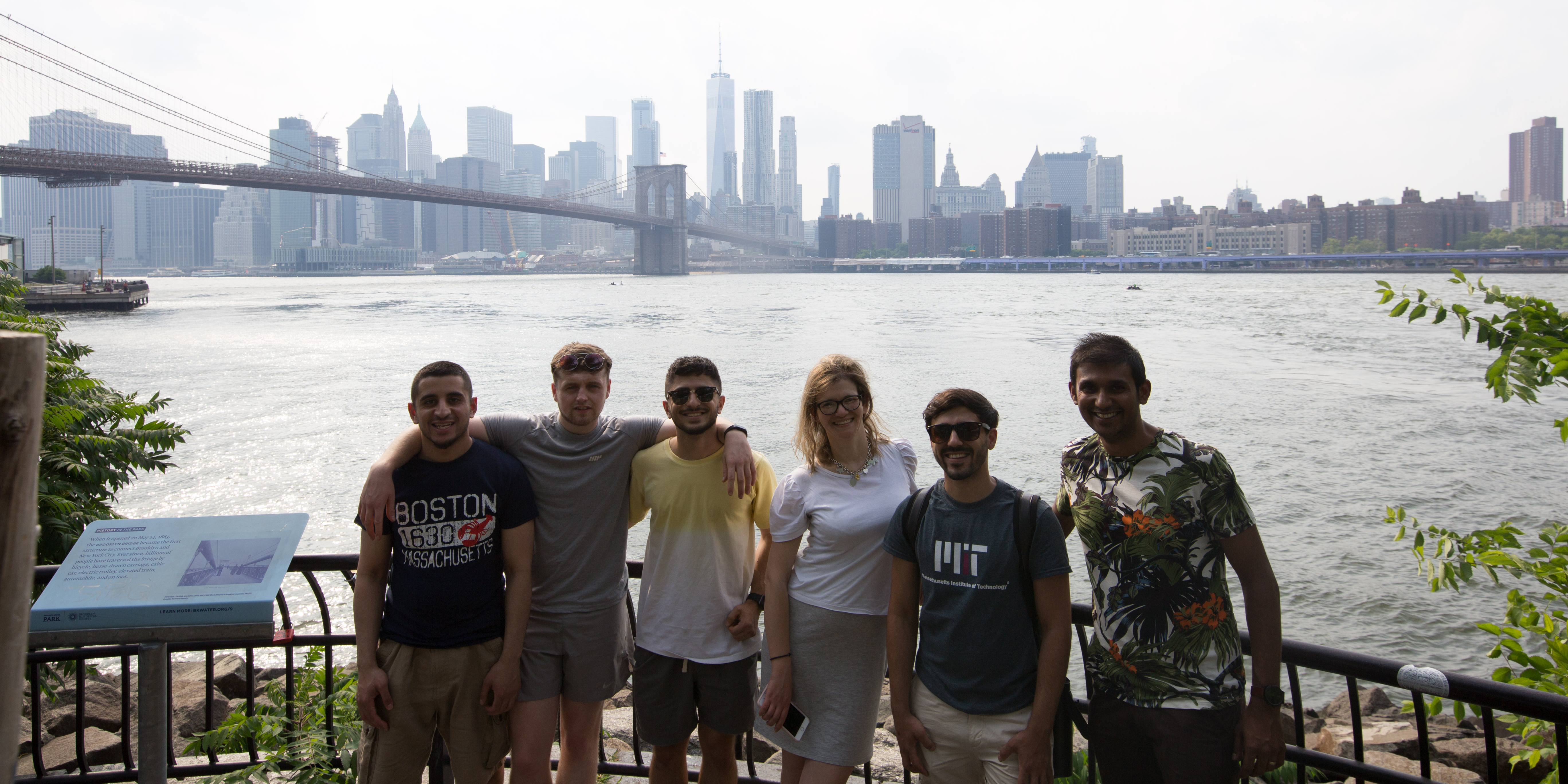 Image: Ari and fellow students in NYC.