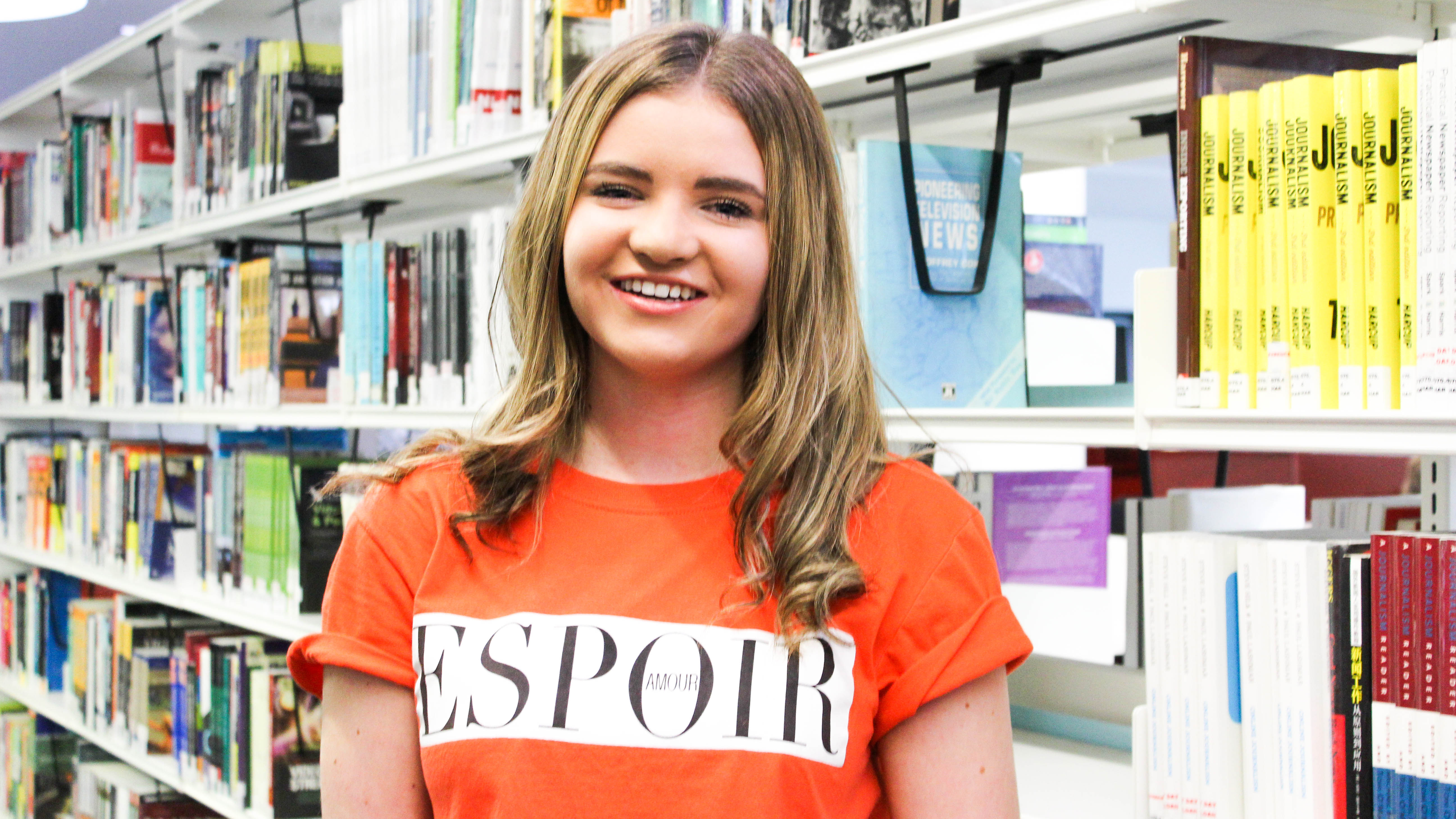 Image: Olivia in our MCUK Library