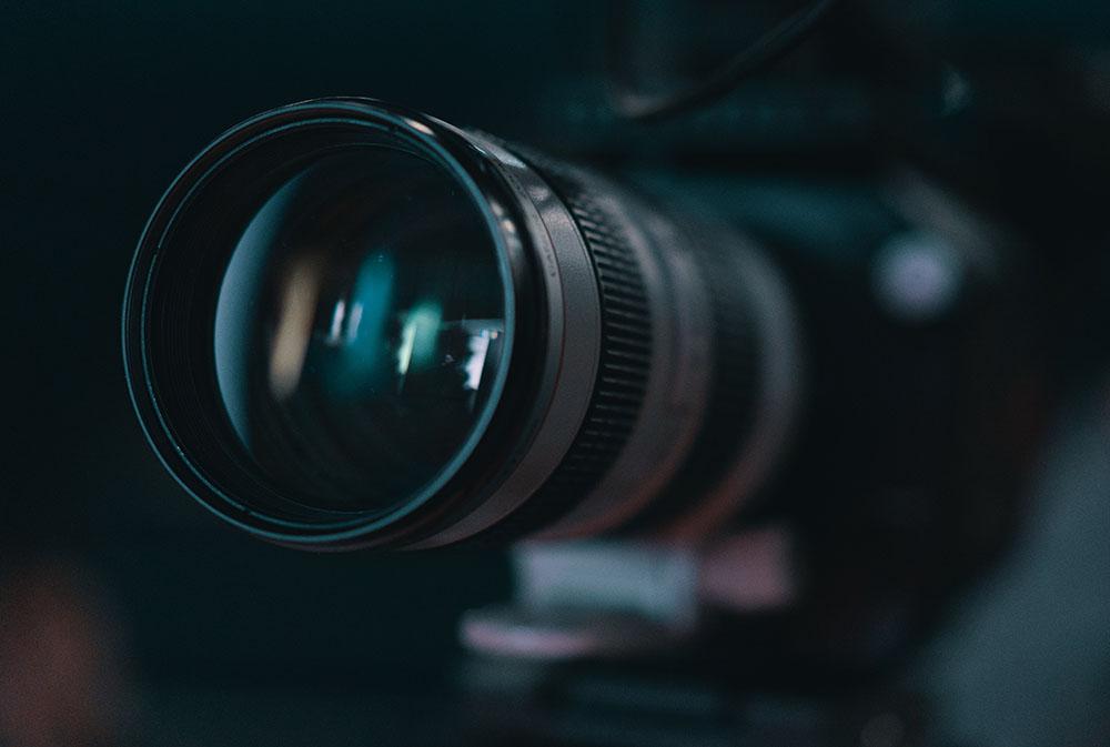 A close up of a camera lens
