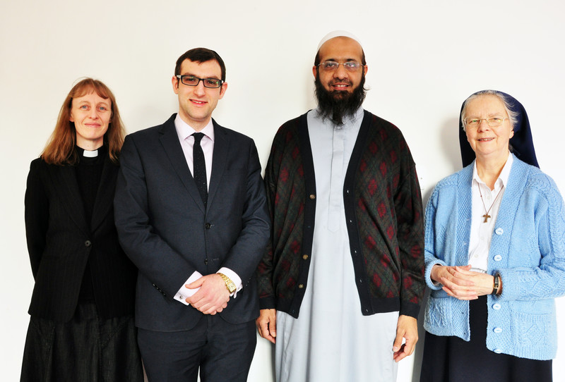 Chaplains of the Faith Centre- Reverend Dr Kim Wasey, Rabbi Ephraim Guttentag, Imam Rashid Musa, Sister Teresa Wild
