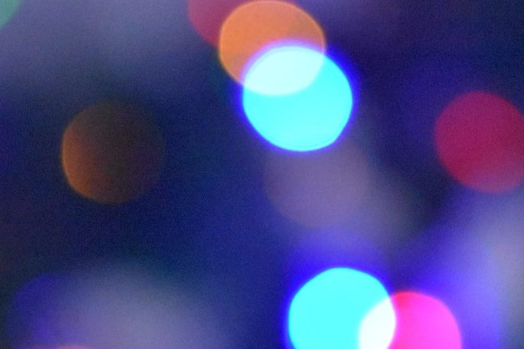 Close up of multi-coloured festive lights