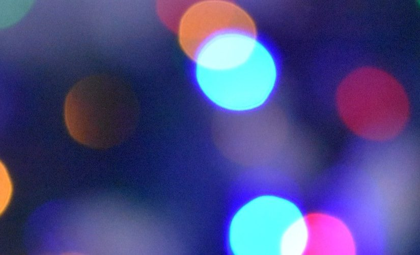 Close up of multi-coloured festive lights