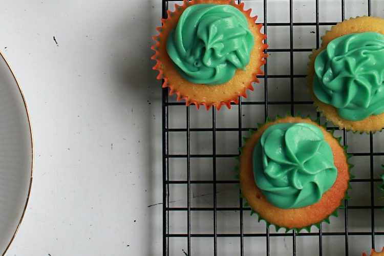 Image of cupcakes with green icing