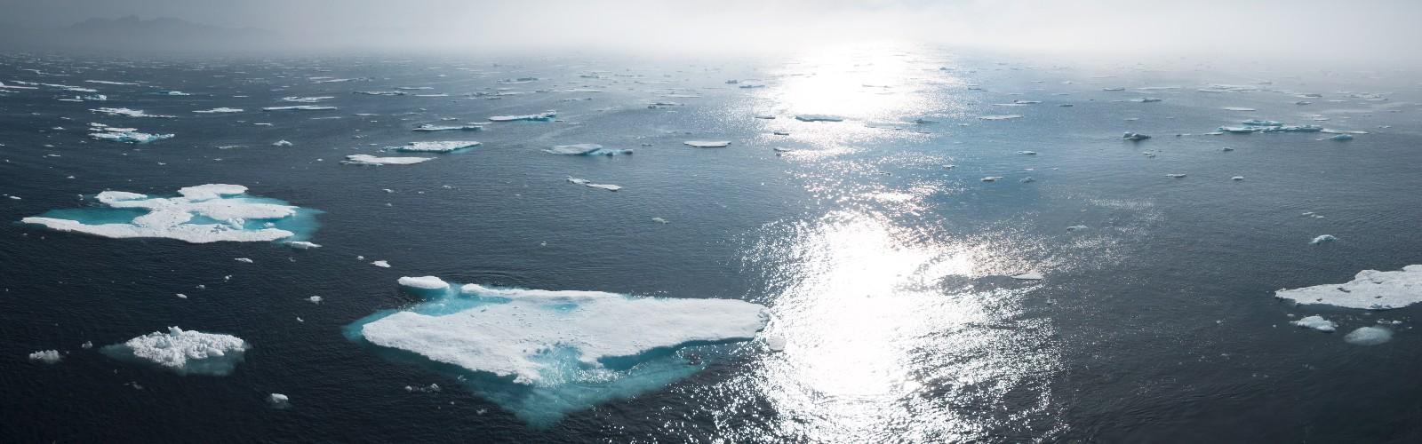 Image of melting icebergs