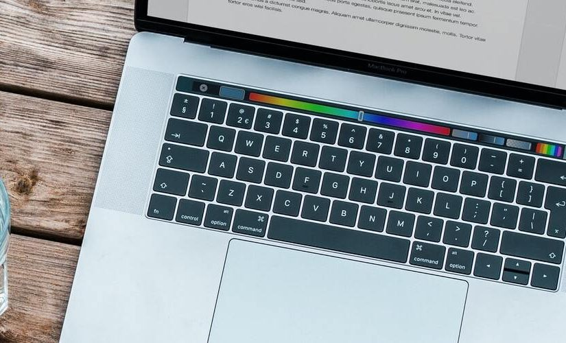 Image of an open laptop