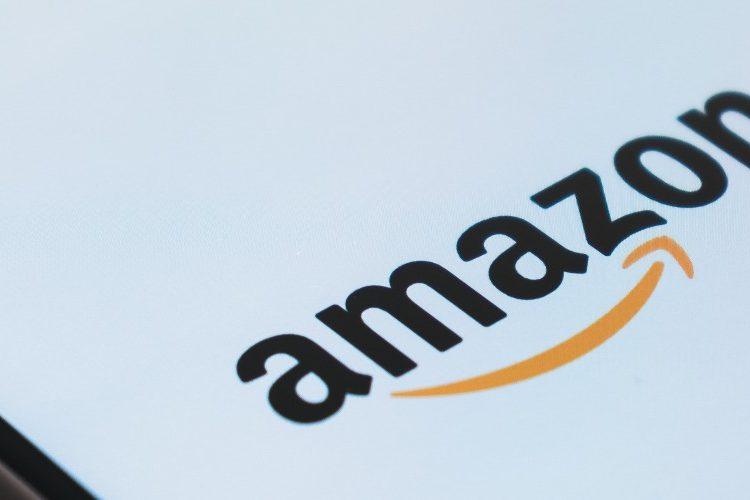Amazon logo displayed on a mobile phone screen