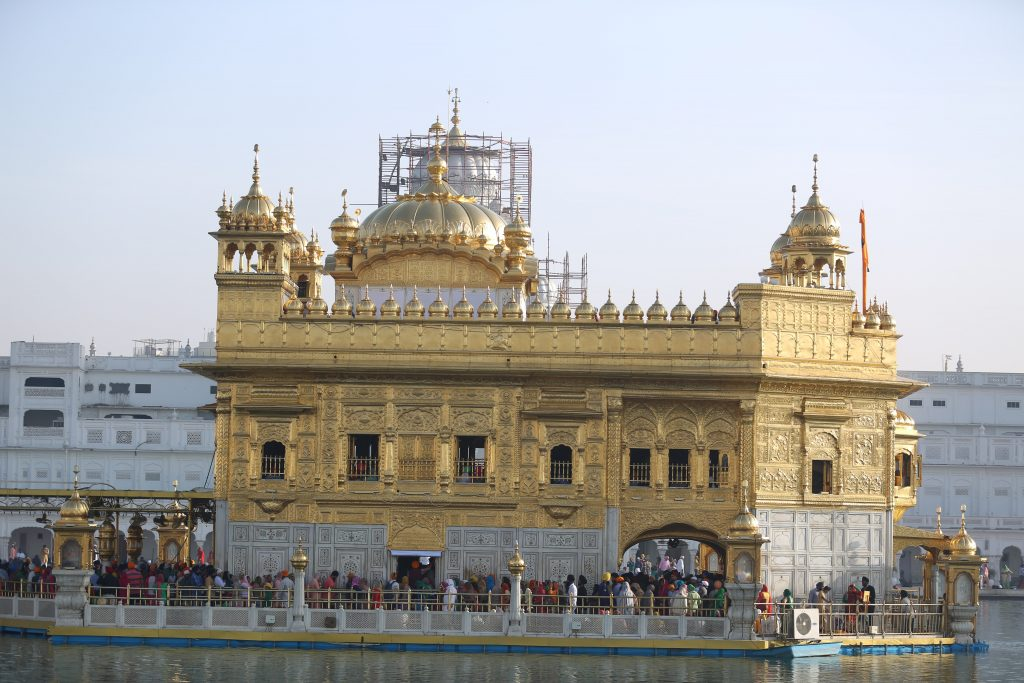 The Golden Temple in Amritsar, India. The most prominent Sikh gurdwara and one of the oldest Sikh places of worship.