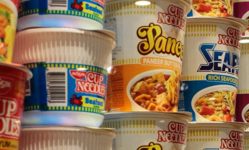 Image of pots of ramen noodles
