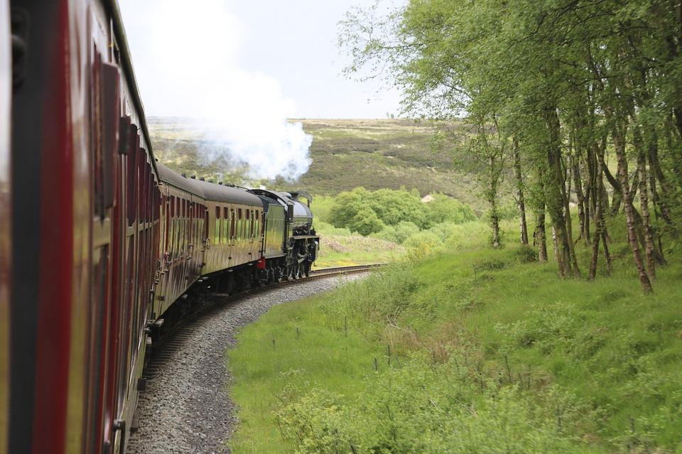 Train on railway transport