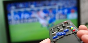 Photograph of TV broadcasting sports