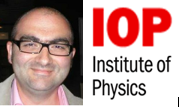 IoP Logo and Photograph of Professor Tomic