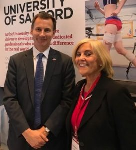 Jeremy Hunt and Margaret Rowe