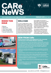 CARe Newsletter Front Page